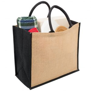 Eco Jute Tote with wide gusset at Coast Image Wear