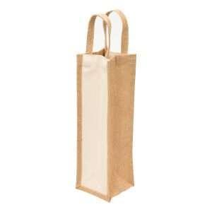 Eco Jute 1 Bottle Wine Bag at Coast Image Wear