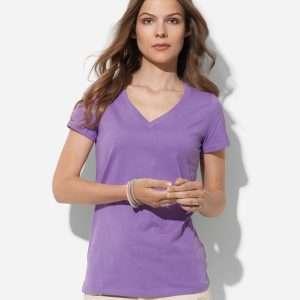 Women's Organic V-Neck at Coast Image Wear