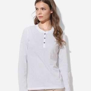 Women's Henley Long Sleeve at Coast Image Wear